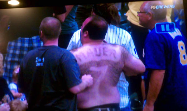 Photo: Yes, this man shaved a Joe Mauer jersey into his back hair