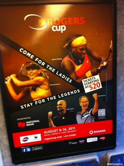 Rogers Cup changes slogan, poster after accusations of sexism