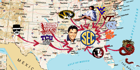 One down, one to go: Who's the lucky No. 14 in SEC expansion?