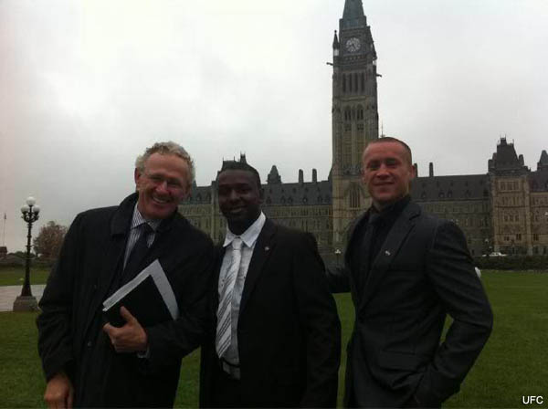 UFC takes lobbying efforts to Canada's Parliament Hill