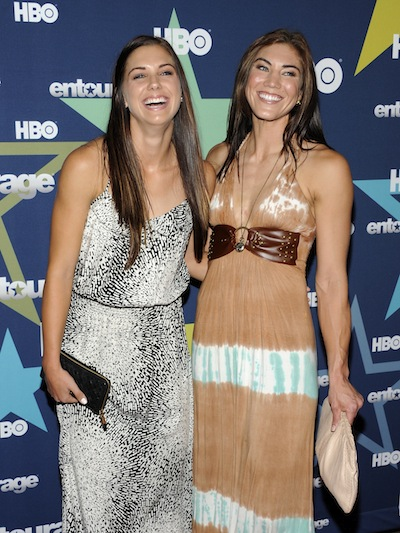 Alex Morgan and Hope Solo were at the 'Entourage' premiere