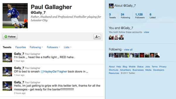 This is how a footballer introduces himself to Twitter