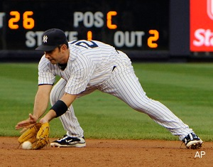 Now playing second base for the Yankees … Jorge Posada?