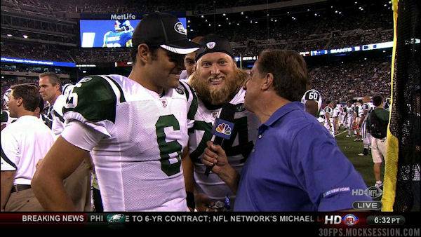 Nick Mangold: Improving Mark Sanchez photos all preseason long