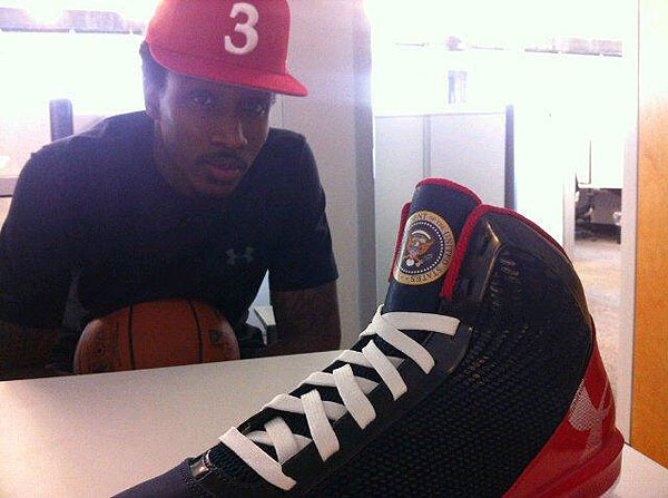 President Obama has Brandon Jennings' new shoes