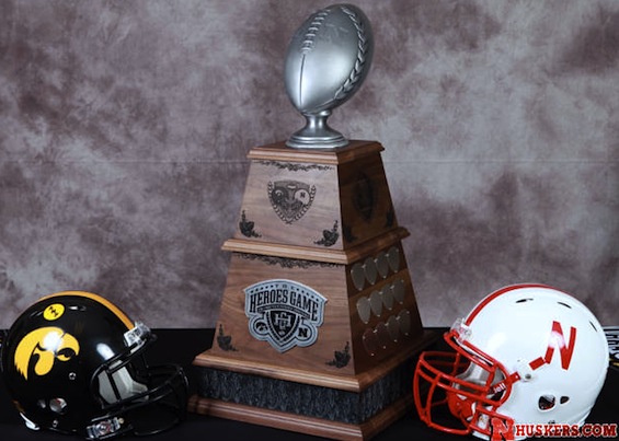 Iowa/Nebraska 'Heroes' Trophy is a new giant in its field