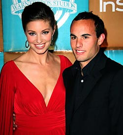 Bianca Kajlich and Landon Donovan