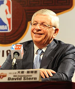 NBA Commissioner David Stern did his Yoda imitation in NY this weekend, then flipped off the players union.