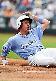 Chaz Frank was among the 16 runners left on base by North Carolina.