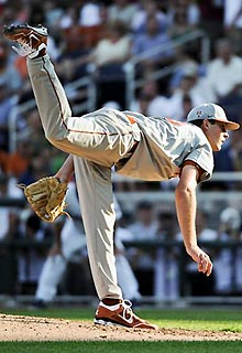 Taylor Jungmann had another rough outing in the postseason for Texas, allowing five runs in 4 1-3 innings.