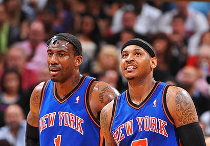 Amar'e Stoudemire and Carmelo Anthony.