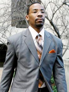In this Jan. 25, 2010 file photo, the Wizards Javaris Crittenton leaves D.C. Superior Court in Washington.