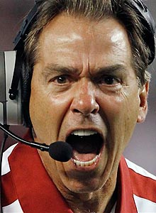 Nick Saban can't be happy that his team dropped from No. 2 to No. 3 in the AP poll.