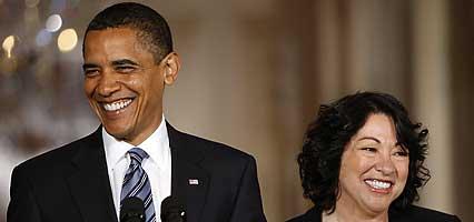 Obama, Sonia Sotomayor