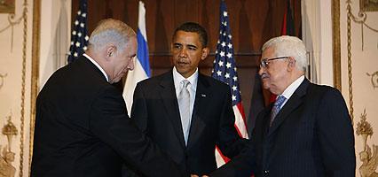 Obama, Netanyahu, Abbas