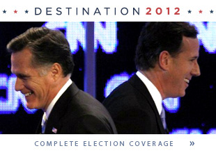 Romney pulls ahead in Illinois, Santorum to spend primary night in Pennsylvania