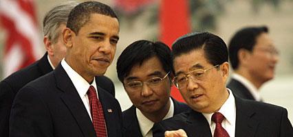 Obama, Hu