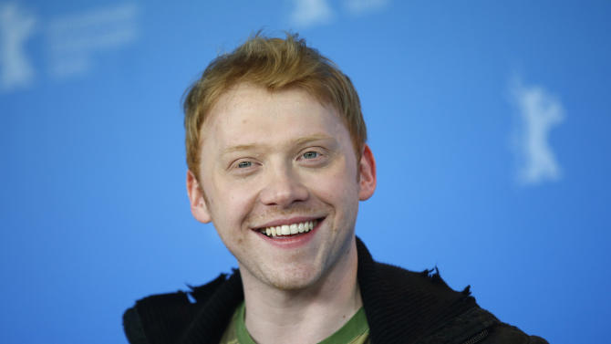 Actor Rupert Grint poses at a photo call for the film The Necessary Death Of Charlie Countryman at the 63rd edition of the Berlinale, International Film Festival in Berlin, Germany, Saturday, Feb. 9, 2013. (AP Photo/Gero Breloer)