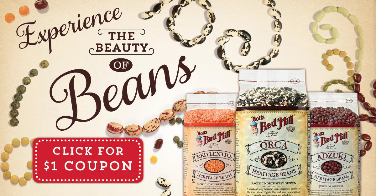 Experience the Beauty of Bob's Red Mill Beans!