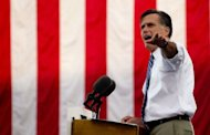 US Republican presidential candidate Mitt Romney delivers remarks at a victory rally in Lebanon, Ohio, on October 13, 2012. President Barack Obama needs to shake out of a political funk and block a resurgent Romney when they meet Tuesday in their second debate just 21 days before the election