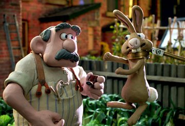 A bunny is captured (humanely) in DreamWorks Animation's Wallace &amp; Gromit: The Curse of the Were-Rabbit
