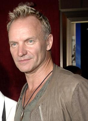 Sting at the New York premiere of Paramount Pictures' World Trade Center