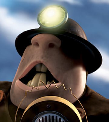 The Underminer (voiced by John Ratzenberger ) in Disney and Pixar's The Incredibles
