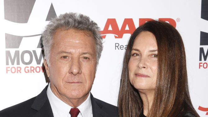 IMAGE DISTRIBUTED FOR AARP MAGAZINE - Dustin Hoffman and Lisa Hoffman attend AARP The Magazine's 12th Annual Movies for Grownups Awards at The Peninsula Hotel on February 12, 2013 in Beverly Hills, California. (Photo by Todd Williamson/Invision for AARP Magazine/AP Images)