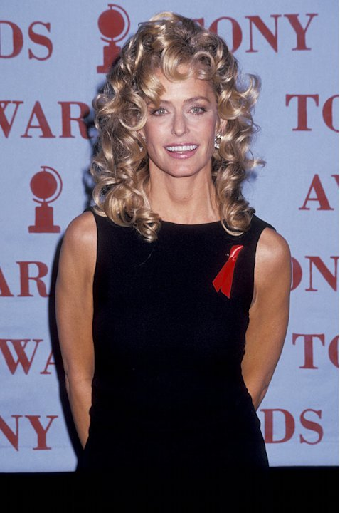 Farrah Fawcett at the 46th Annual Tony Awards at the Gershwin Theatre in New York City, NY on May 31, 1992.