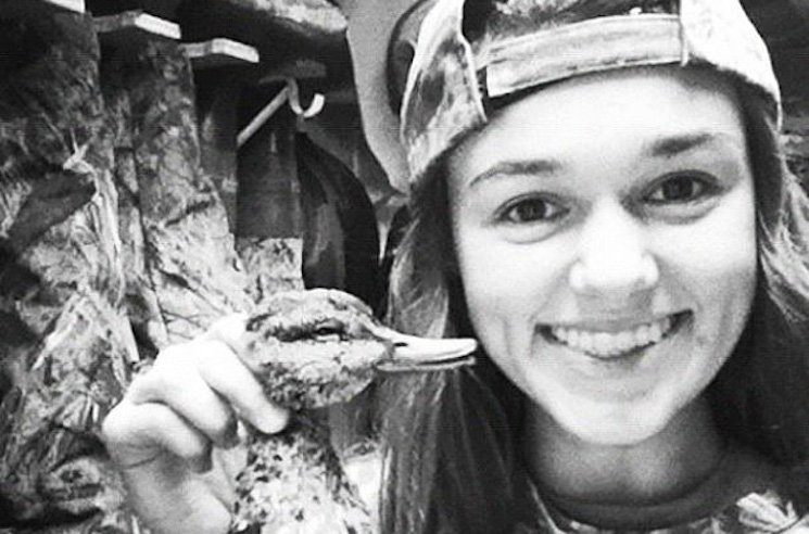 Sadie Robertson celebrates a successful duck hunt — AE.com