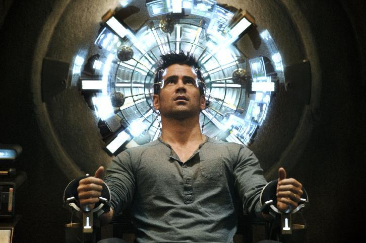 "This film image released by Columbia Pictures shows Colin Farrell in a scene from the action thriller ""Total Recall.""  (AP Photo/Columbia Pictures - Sony, Michael Gibson)"