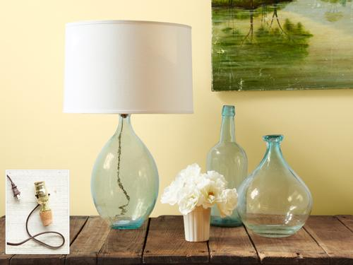 Glass-Bottle Lamp
