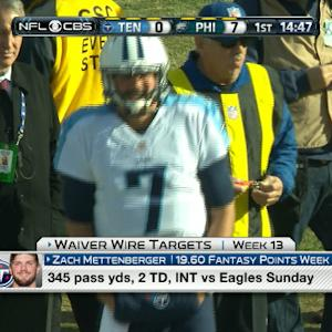 'NFL Fantasy Live': Wk 13 Waiver Wire Targets