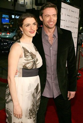 Rachel Weisz and Hugh Jackman at the Hollywood premiere of Warner Bros. Pictures' The Fountain