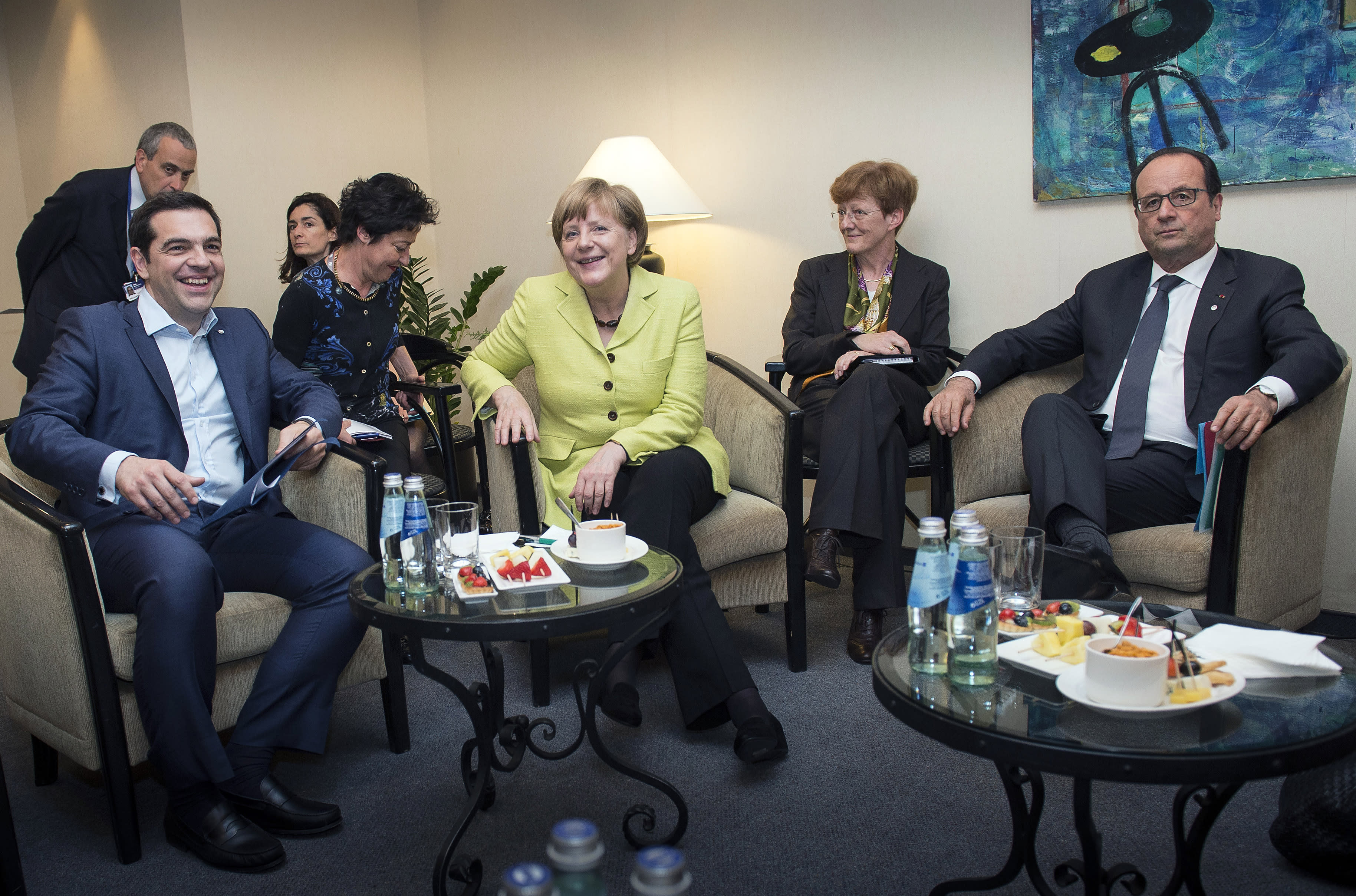 Merkel says 'a whole lot left' to do on Greece bailout talks