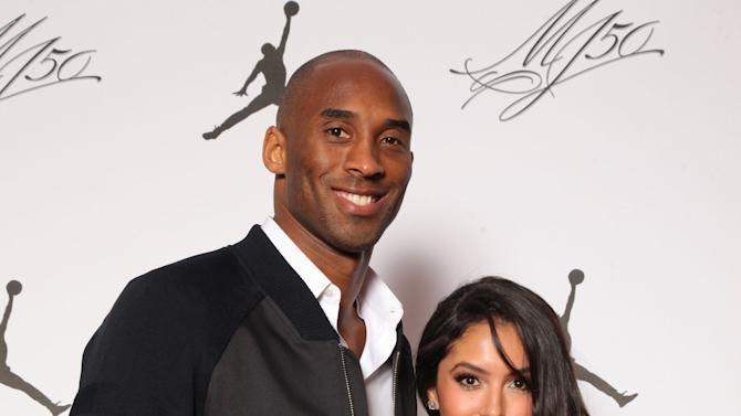 IMAGE DISTRIBUTED FOR JORDAN BRAND - Kobe and Vanessa Bryant are seen at the Jordan Brand party celebrating Michael Jordan's birthday on Friday, February 15, 2013 in Houston, TX.  The Jordan Brand launched its Air Jordan XX8 in Houston on the same day.  (Photo by Omar Vega/Invision for Jordan Brand/AP Images)