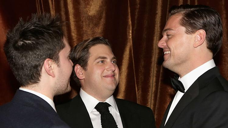 The Weinstein Company's 2013 Golden Globe Awards After Party Presented By Chopard, HP, Laura Mercier, Lexus, Marie Claire, And Yucaipa Films - Inside: Jonah Hill and Leonardo DiCaprio