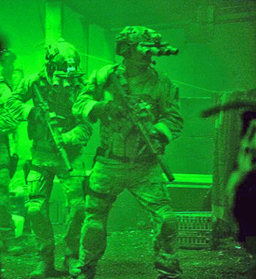 These are the incredible four-tube night-vision goggles SEAL Team Six wore during the Bin Laden raid