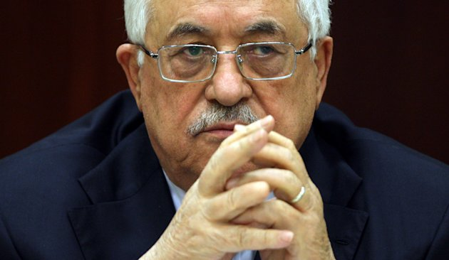 Palestinian president Mahmud Abbas attends a meeting of the Fatah Central Committee in the West Bank city of Ramallah. Abbas on Sunday convened the central committee of his Fatah movement to discuss contacts with Israel after a series of preliminary talks.