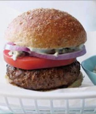 Healthy bleu cheese burgers