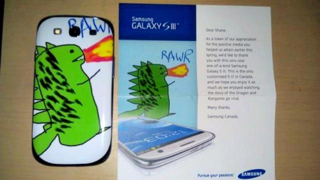 Samsung Wins Cool Points With Personalized Dragon Phone