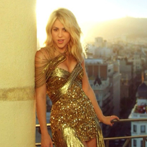 "Shakira en el video ""Get It Started"""