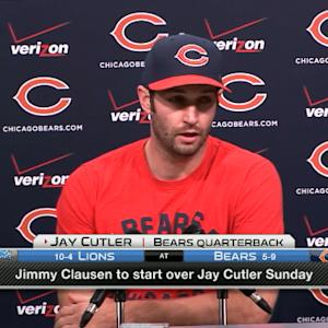 Chicago Bears quarterback Jay Cutler on benching: 'I didn't see it coming'
