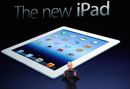 Apple CEO Tim Cook at Apple iPad event.