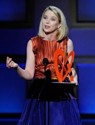 <p>Google's Marissa Mayer speaks onstage at the The 2009 Women of the Year hosted by Glamour Magazine at Carnegie Hall in New York City.</p>