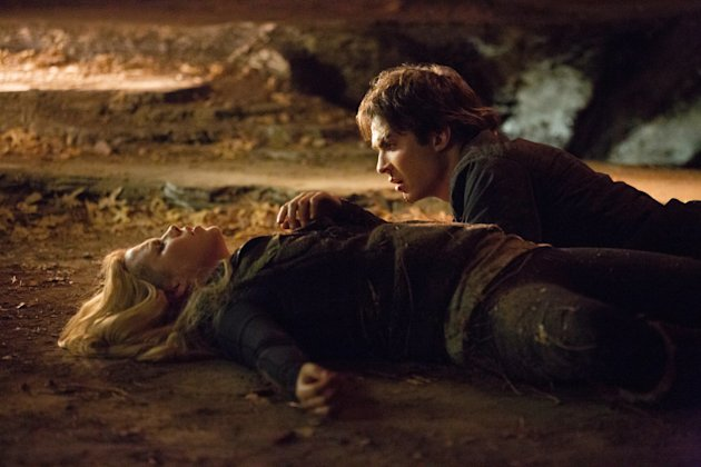 """Down the Rabbit Hole"" -- Claire Holt as Rebekah and Ian Somerhalder as Damon"