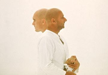 Robert Duvall and Donald Pleasence in Warner Brothers' THX-1138