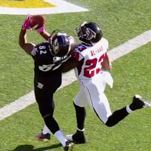 Baltimore Ravens quarterback Torrey Smith 39-yard touchdown catch