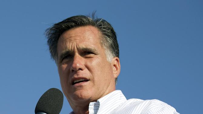 Republican presidential candidate, former Massachusetts Gov. Mitt Romney speaks during a campaign stop at Holland State Park on Tuesday, June 19, 2012 in Holland, Mich.  (AP Photo/Evan Vucci)