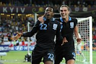 Danny Welbeck (left) scored the vital goal as England won a thriller in Kiev